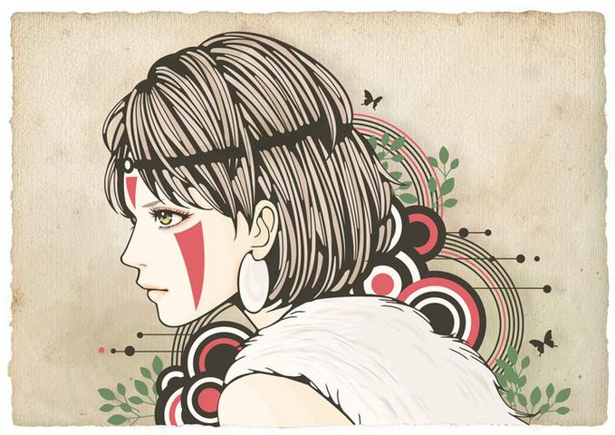 Tinami イラストもののけ姫サン